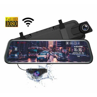 Azdome AR08 Tükörbe integrált dupla Autós kamera