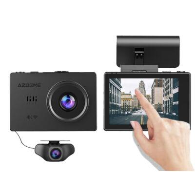 Magyar menüs érintőképernyős 4K-s WIFI+GPS AzDome M10 (GS31) autós kamera