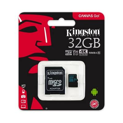 32 gb-os Kingston micro SD kártya (class10) 4K