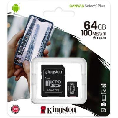 64 gb-os Kingston micro SD kártya (class10)