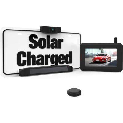 100% Vezeték nélküli, Tolatókamera, akkus, napelemes  Monitorral (Auto-Vox)