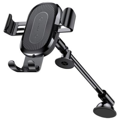 Baseus mágneses teleszkópos Autós telefon tartó vezeték nélküli töltéssel