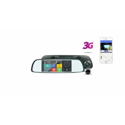 E-cam M710A tükörbe épített kamera navigációval, kamerával, nyomkövetéssel