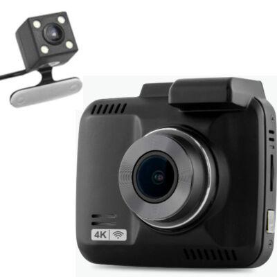 GS63D WIFI+GPS 4K-s dupla autós kamera