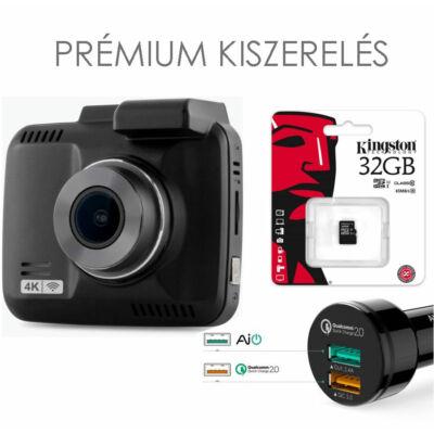 GS63H WIFI+GPS 4K-s autós kamera Prémium kiszerelés