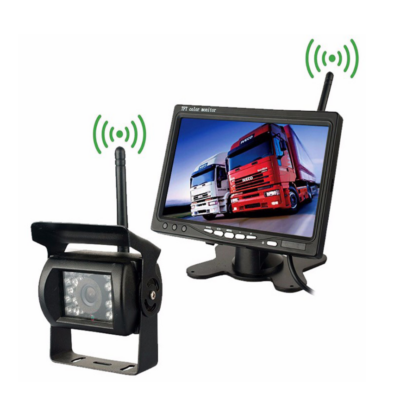 Vezeték nélküli Tolatókamera és Monitor szett Kamionra, teherautóra, lakóautóra