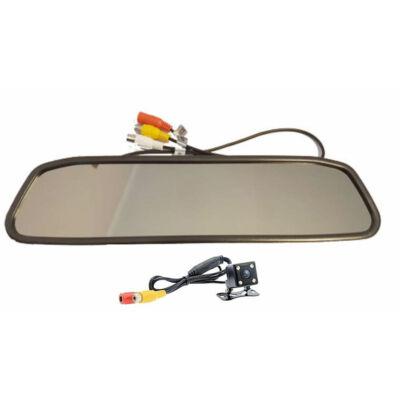 Tolatókamera és tükörbe integrált monitor szett